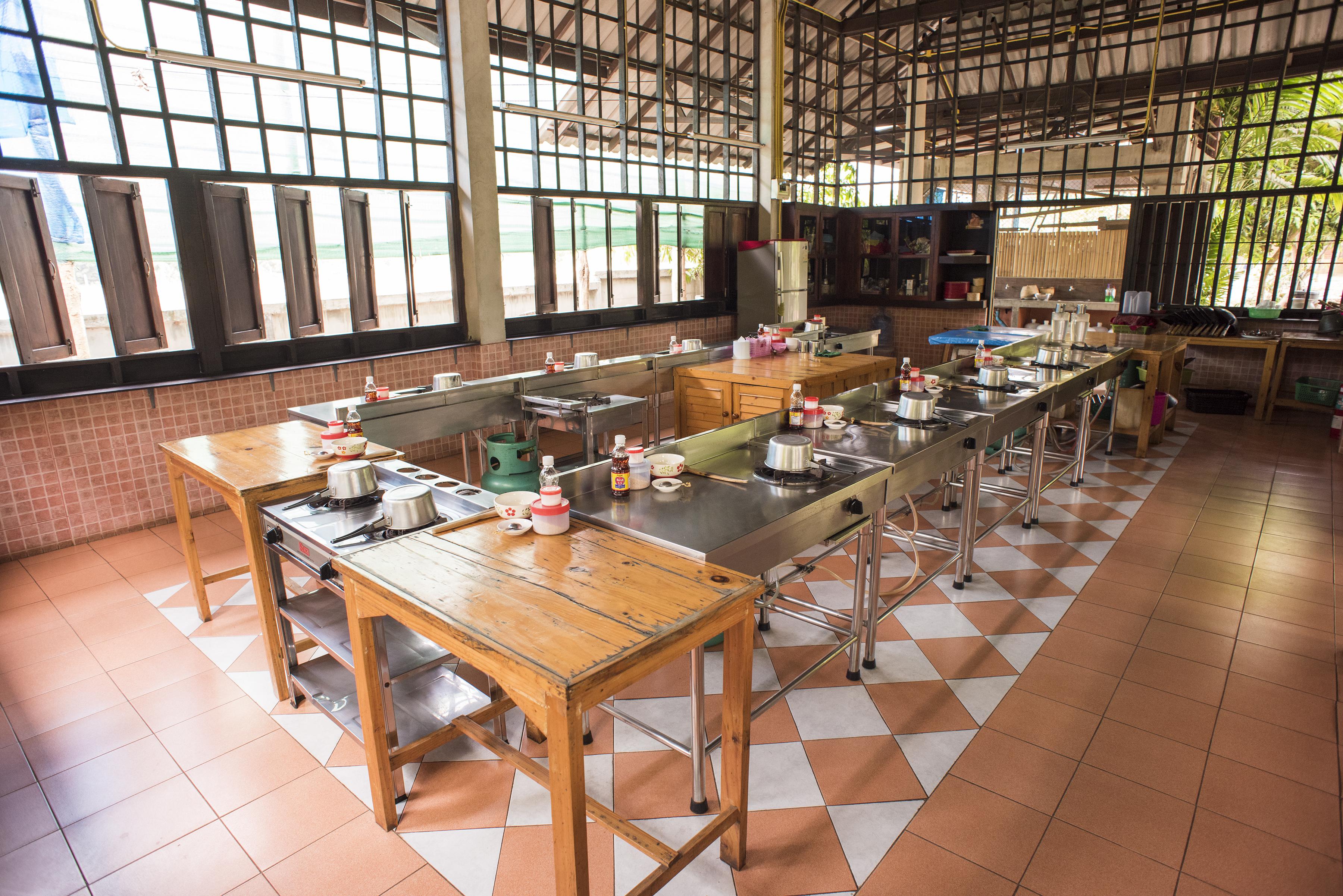Thai cooking kitchen