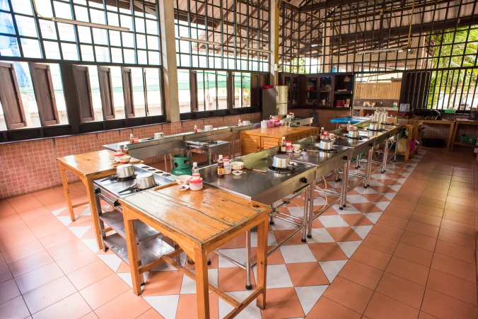 Thai cooking kitchen