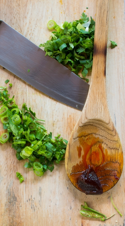 Thai cutting board spoon