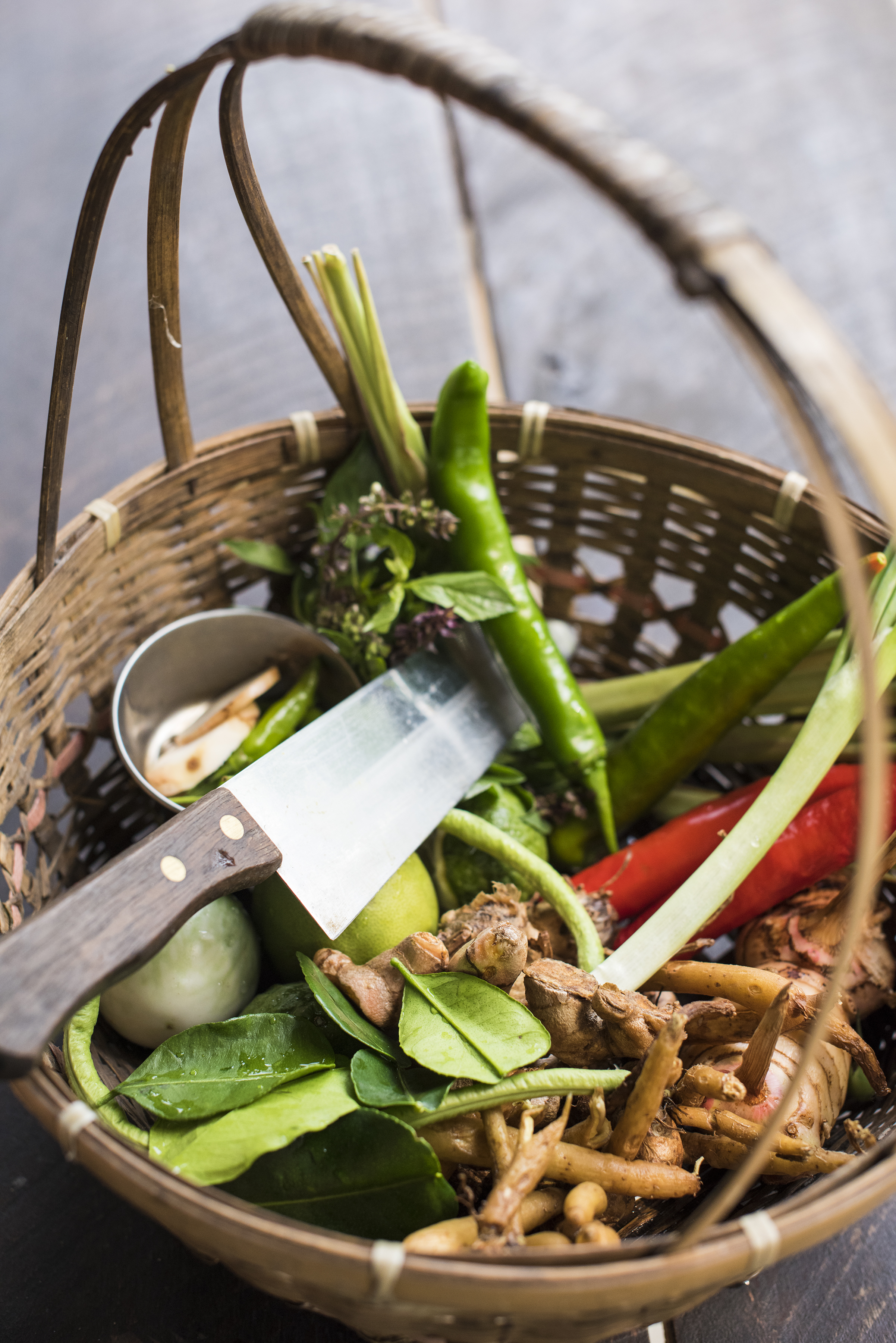 Thai ingredients basket