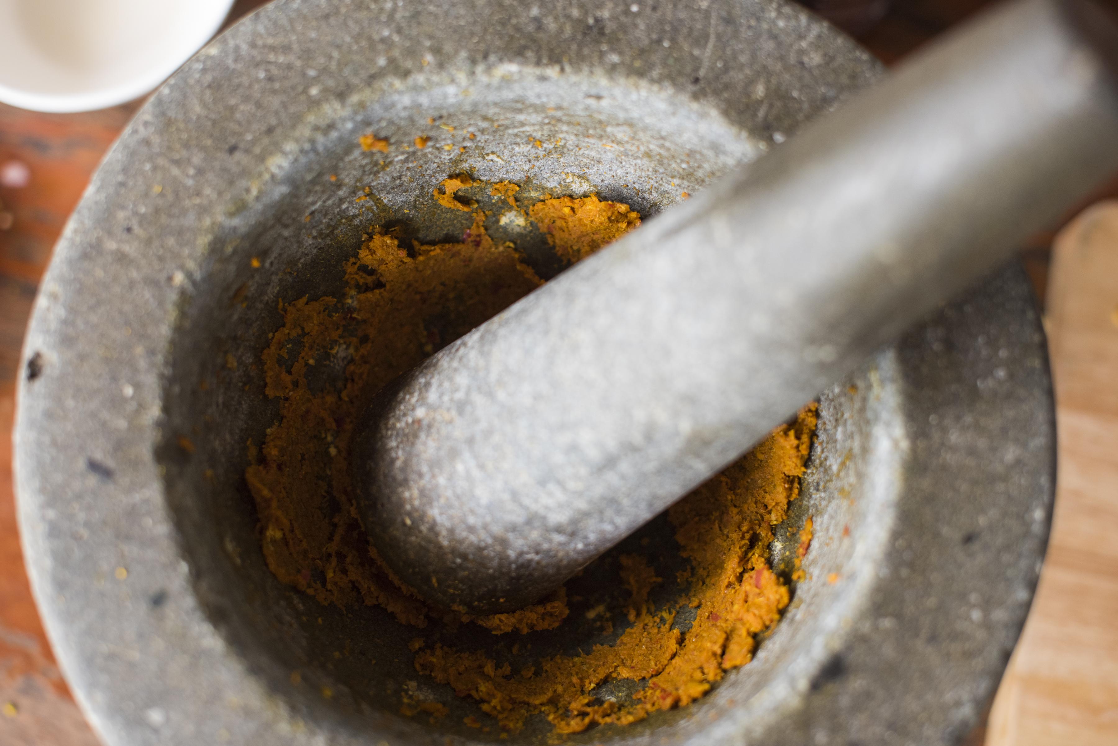 Thai pestle mortar