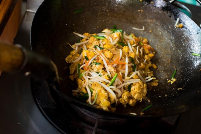 Thai wok stir-fry tofu
