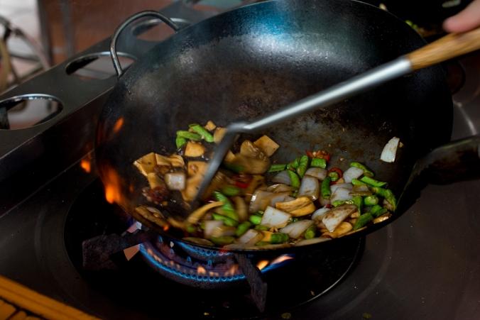 Thai wok stir-fry veg