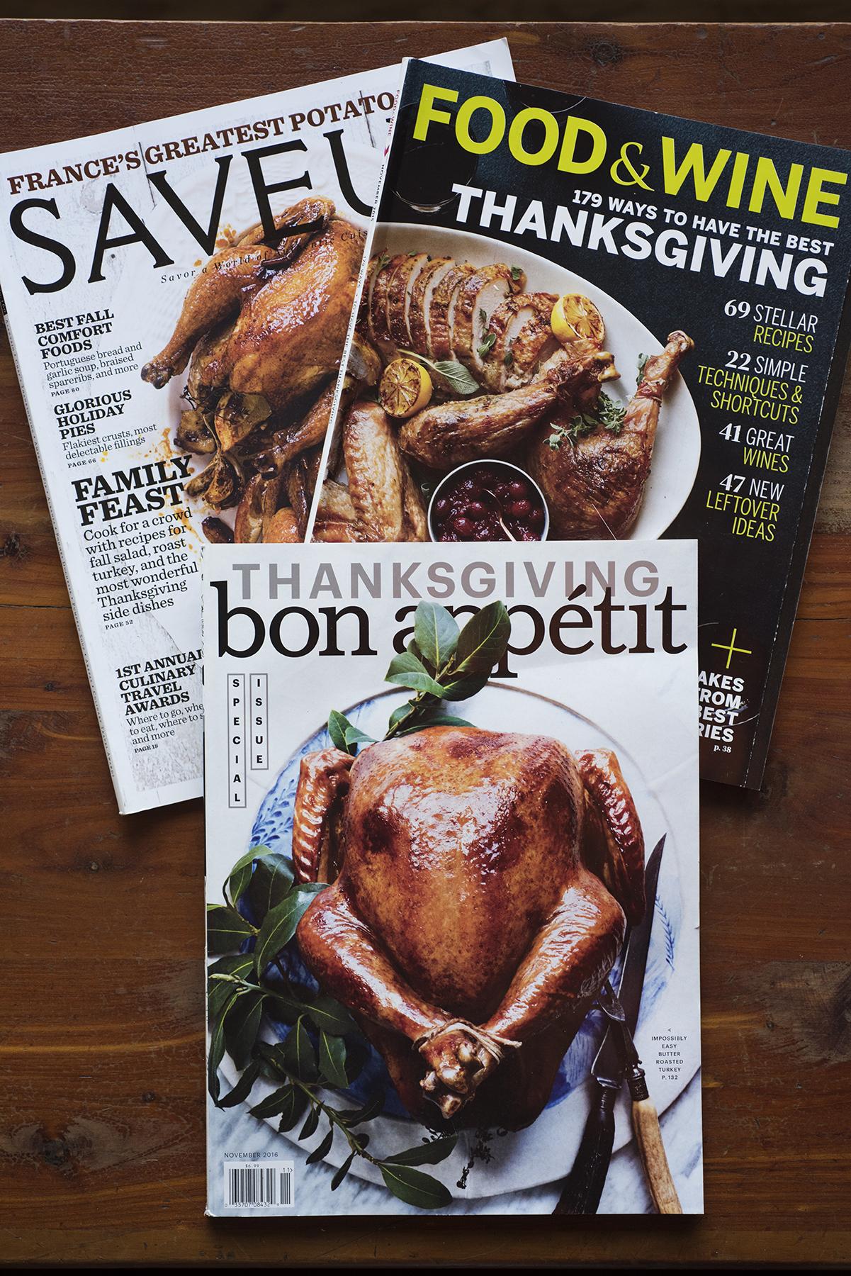 Thanksgiving magazines