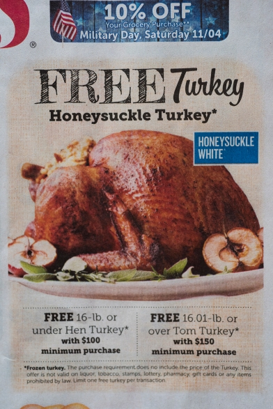 Thanksgiving turkey ad